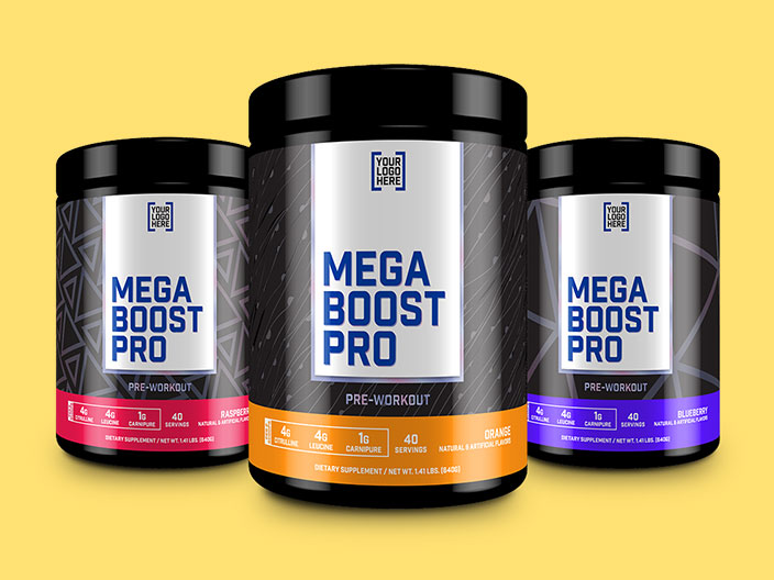 Mega Boost Pro Supplement Packaging