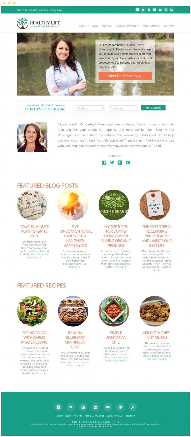 Healthy Life Redesign Website #1
