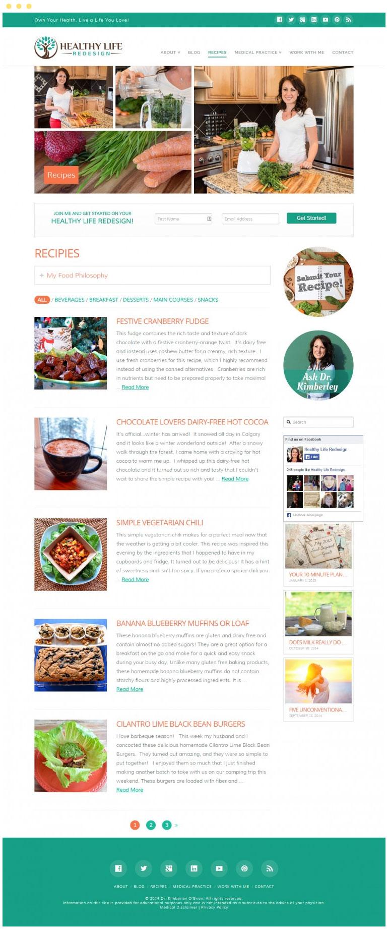 Healthy Life Redesign Website #2
