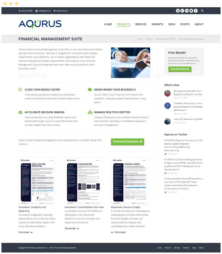Aqurus Solutions Website #3