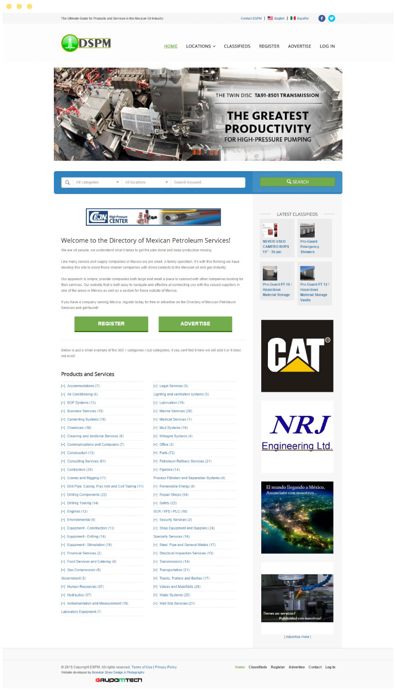 Directory of Mexican Petroleum Services Website #1