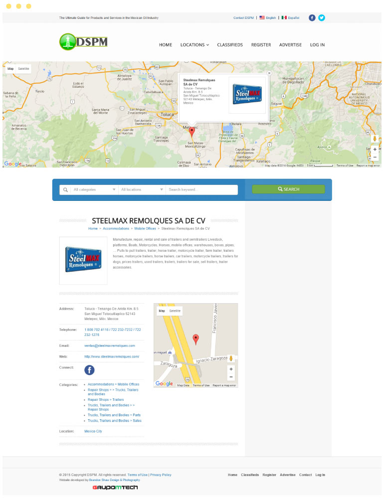 Directory of Mexican Petroleum Services Website #2