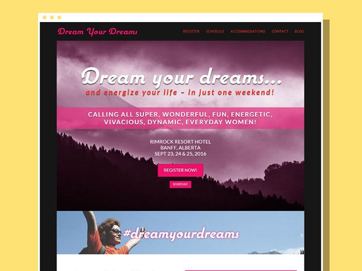 Dream Your Dreams Website