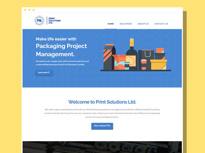 Print Solutions Ltd. Website